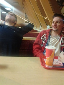 Nick and Mark at Dairy Queen... Night of fun!
