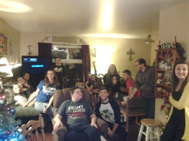 New years party at the Planck house! Too much fun!