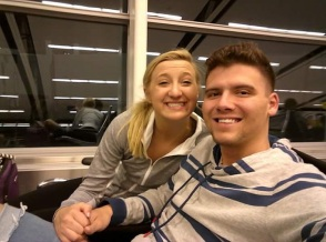 En Route to Mexico for our HONEYMOON!