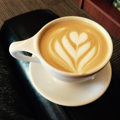Carmel latte at The Abby Coffee #Coffeelover #Latte #Coffee
