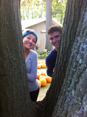 First pumpkin patch with my love...we weren't dating yet, but we already looked good together.