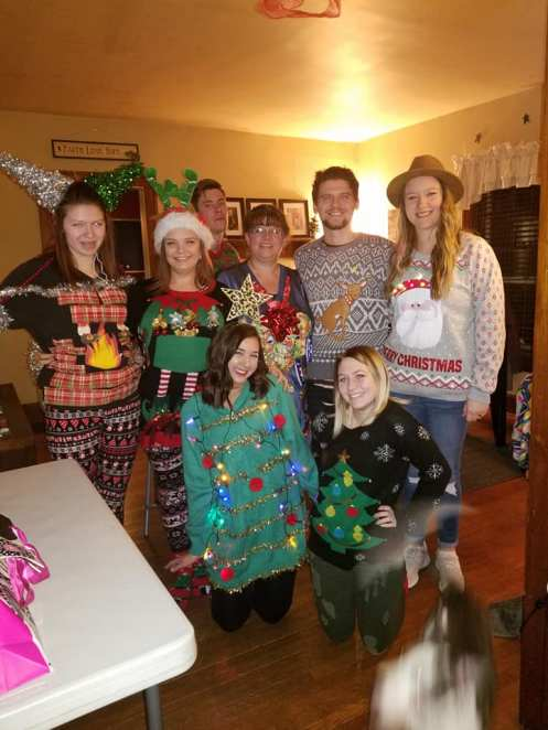 Youth Leaders Christmas party! Ugly sweater contest.